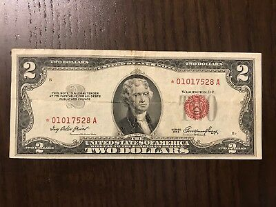 USA 1953 2$ VF *REPLACEMENT Red Seal. United States Note.