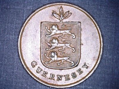 1830 1 double Guernsey copper coin KM#1