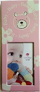 Baby Frame : Fashion Craft Pink Bear Girl Baby Picture Frame / Desk Frame NEW