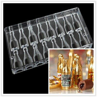 Clear Hard Polycarbonate Chocolate Mold DIY Candy Pastry Baking Tools Bottle