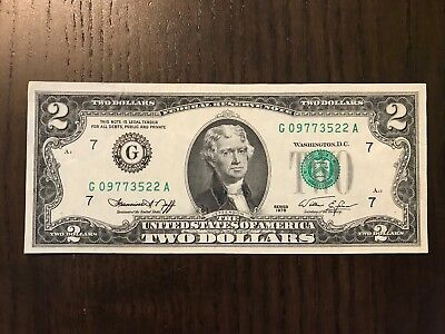 USA 1976 2$ Federal Reserve Note.