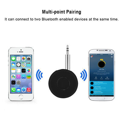 3.5mm Wireless Bluetooth Audio Stereo Adapter Car AUX Home Music Receiver w/ Mic