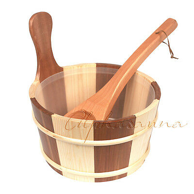 Free Shipping 4l Sauna Pail and Ladle/Spoon Home SPA sauna room accessories