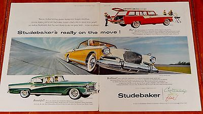 Superb 1956 Studebaker Golden Hawk President Classic Pelham Wagon Large Ad -