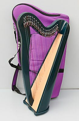 Mikel Aster 22 Strings Harp, Fully Levered and Carry Bag, Local Delivery USA, UK