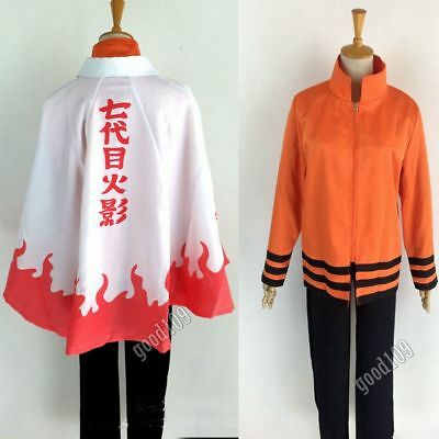 Naruto 7th Hokage Naruto Uzumaki Outfit Uniform Full Set Cosplay Costume