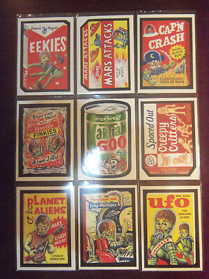 2016 Kickstarter IDW MARS ATTACKS Occupation Attacky Packages 10 Card Set - HOT
