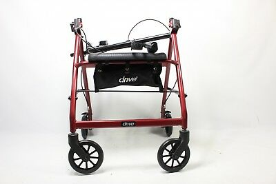 Drive Medical Aluminum Rollator Walker Fold Up and Removable  R726RD - Preowned