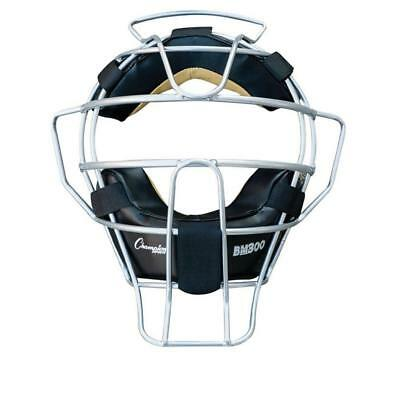 Champion Sports Ultra Lightweight Umpire Face Mask, Black