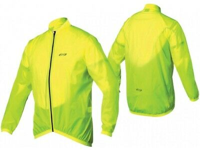 Bbb Baseshield Water-Repellent Cycling Rain Jacket Neon Yellow
