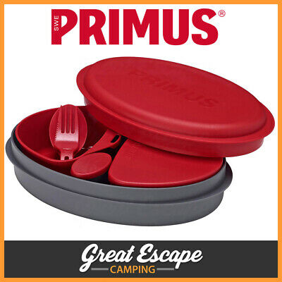 Primus Meal Set Red. 8 Piece Kit for 1. Great for Hiking, Camping, Outdoors