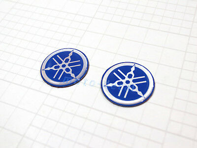 Yamaha Emblem Decal 45MM Tank Tuning Fork Blue Badge Sticker R1 R6 FZ1 FZ6 FZ8