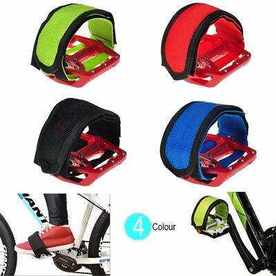 1 pair Black Cycling Bike Anti-slip Bicycle Pedals Toe Clips Straps Fixie