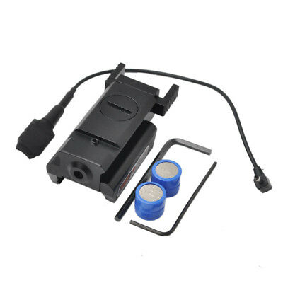 Dot Sight Scope Mini Red Laser Sight 20mm with 2 Battery + Switch for Pistol