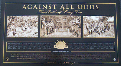 Anzac The Battle Of Long Tan Vietnam Against All Odds Limited Edition Print Ww2