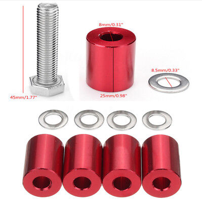 Red Hood Vent Spacer Riser Kits For Engine Motor Swap 8MM For Ford,Chevy, Nissan