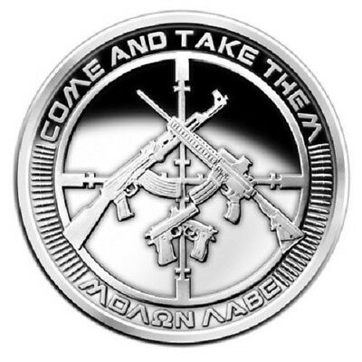 1 oz 99.9 silver coin - 2013 AG-47 Come and Take Them - Prooflike - SBSS