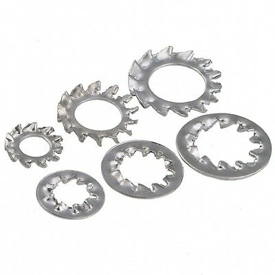 M3,4,5,6,8,10mm Zinc Plated Serrated Lock Washer External&Internal Toothed