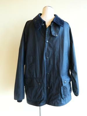$379 Barbour Equestrian Bedale Jacket L Navy blue waterproof waxed cotton
