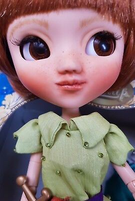 Custom Pullip Doll Peter Pan + Stock Outfit + Princess Dress + Wig Blythe Friend