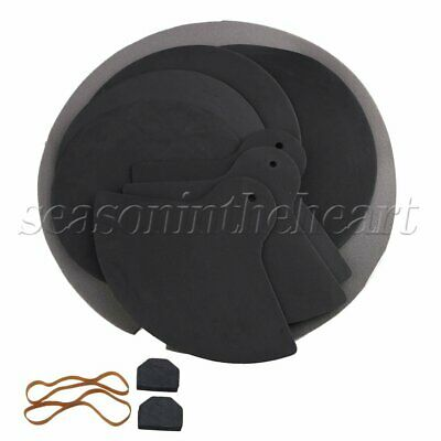 8x Bass Drums Sound off / Quiet Mute Silencer Drumming Rubber Practice Pad Set