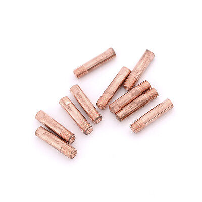 10pcs Gas Nozzle Gold 15AK-0.8mm Mig Mag Welding Weld Torch Contact Tips ZY