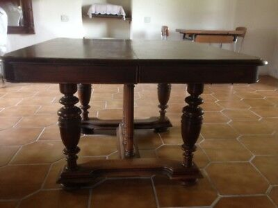 Belle Grande Table A Allonge Henri Ii En Bois Massif