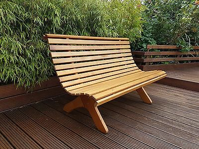 3 Seater Wooden Garden Bench Park
