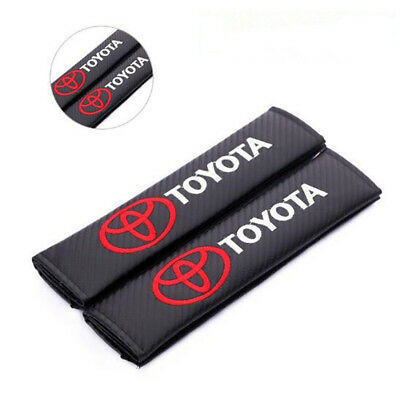 2x Luxury Carbon Fiber Car Seat Belt Cover Shoulder Pads Truck Cover for Toyota