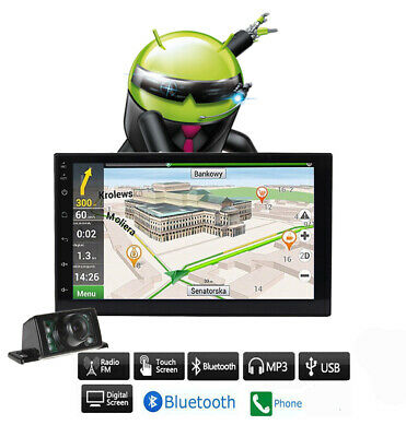 """7"""" Android 6.0 2Din Car Stereo W/ DVD Player GPS WiFi BT  Radio Rear camera"""