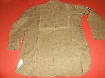 U.S.ARMY :1943 WWII  Shirts,Flannel O.D. Coat Style With Gas Flap 1943 WWII
