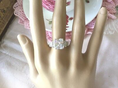 Antique Jewellery Gold Ring Sapphire White Stones size 8 or Q Vintage Jewelry