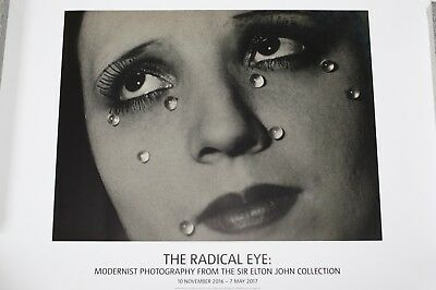 MAN RAY : Glass Tears, Ausstellungsplakat Sir Elton John,Tate-Gallery, London