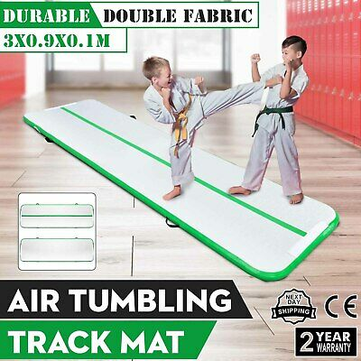 10Ft Air Track Floor Tumbling Inflatable Gym Mat AirTrack Portable Gymnastic