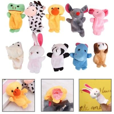 10pcs Story Telling Finger Puppets Farm Animals Toys Baby Story Learning Toys