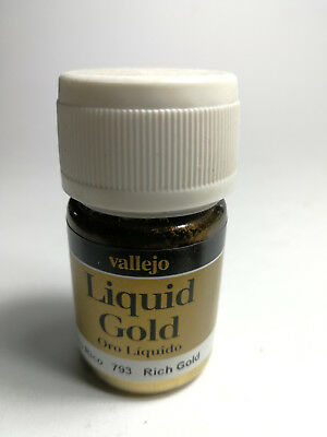 Vallejo Pigments - Liquid Gold - Resin- & Metallpigmente - 100% Farbecht - 35 ml
