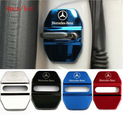 4x Stainless Steel Car Door Lock Striker Cover Protector Cover for Mercedes-Benz