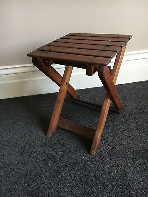 Vintage Timber Folding Handmade Stool