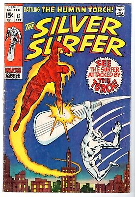 Silver Surfer #15 Featuring The Human Torch, Very Good Condition'