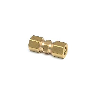 3/8 OD Compression Copper Tube Union Straight Joiner Fitting Air Gas Water
