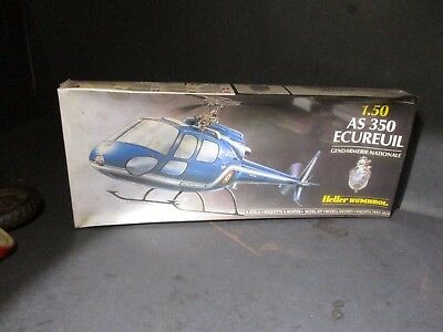 HELLER HUMBROL AS 350 ECUREUIL 1/50 Scale 80487 Helicopter Model Kit NIB H929 PM