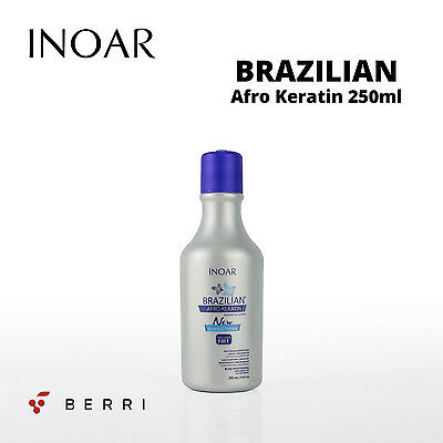 Inoar Afro Brazilian Keratin Treatment Blow Dry Hair Straightening Kit Berri Uk*