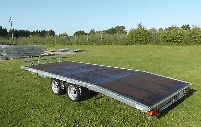 """16' X 6'6"""" Flat bed with Beaver Tail Trailer"""