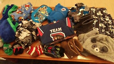 BULK LOT BOYS WINTER PJs SIZE 8