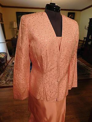 Gorgeous Mother Of The Bride Or Groom 3-Piece Formal Suit In Bright Pink Sz 14