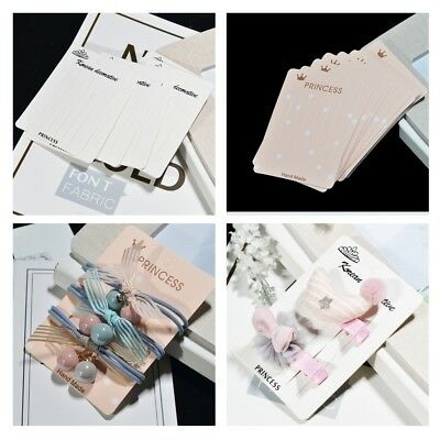 20Pcs Rectangular Hair Clip Display Cards, Earring/Necklace/Jewelry Display