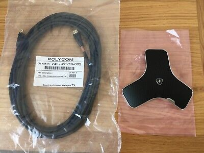 Polycom 2201-09750-002 Real Presence Microphone With Cable