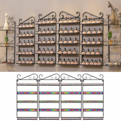 5 Tier Wall Mounted Nail Polish Display Racks Stand Holder Acrylic Varnish Shelf
