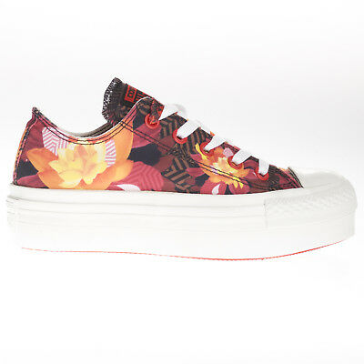 Converse Womens CT Ox Trainer Footwear Lace Up Rubber Sole Multi Coloured