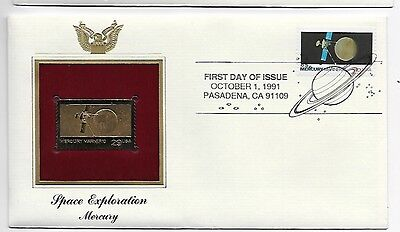22K Gold Replica 1991 Mercury Mariner First Day Cover